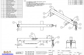 2T Extendable Forklift JIB