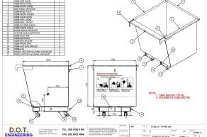1T Forklift Tipper Bin