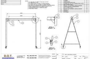 """2T """"A"""" Frame Mobile Gantry"""