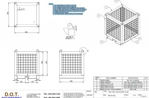 500kg 500 x 500 x 500 Goods Cage