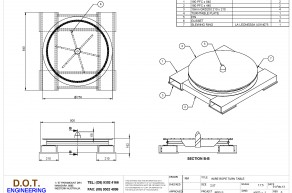 2.5T Wire Rope Turn Table