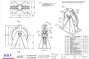 400mm Wire Rope Sheave & Frame